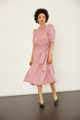 The Celia Dress in Mauve from St. Roche