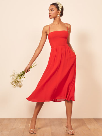 Rosehip Dress in Tomato from Reformation