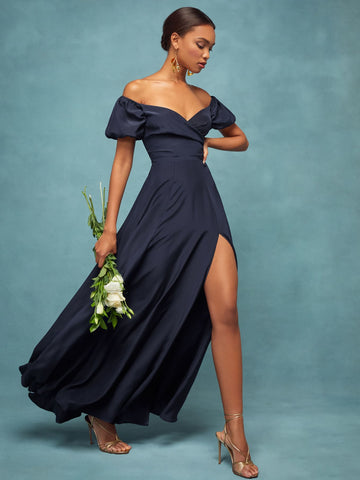 Grigio Dress in Navy from Reformation