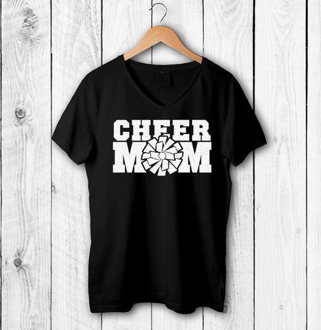 d35482f3ce50 White Glitter Cheer Mom Shirts, Hoodies, Tank Tops – Hearts and Flags
