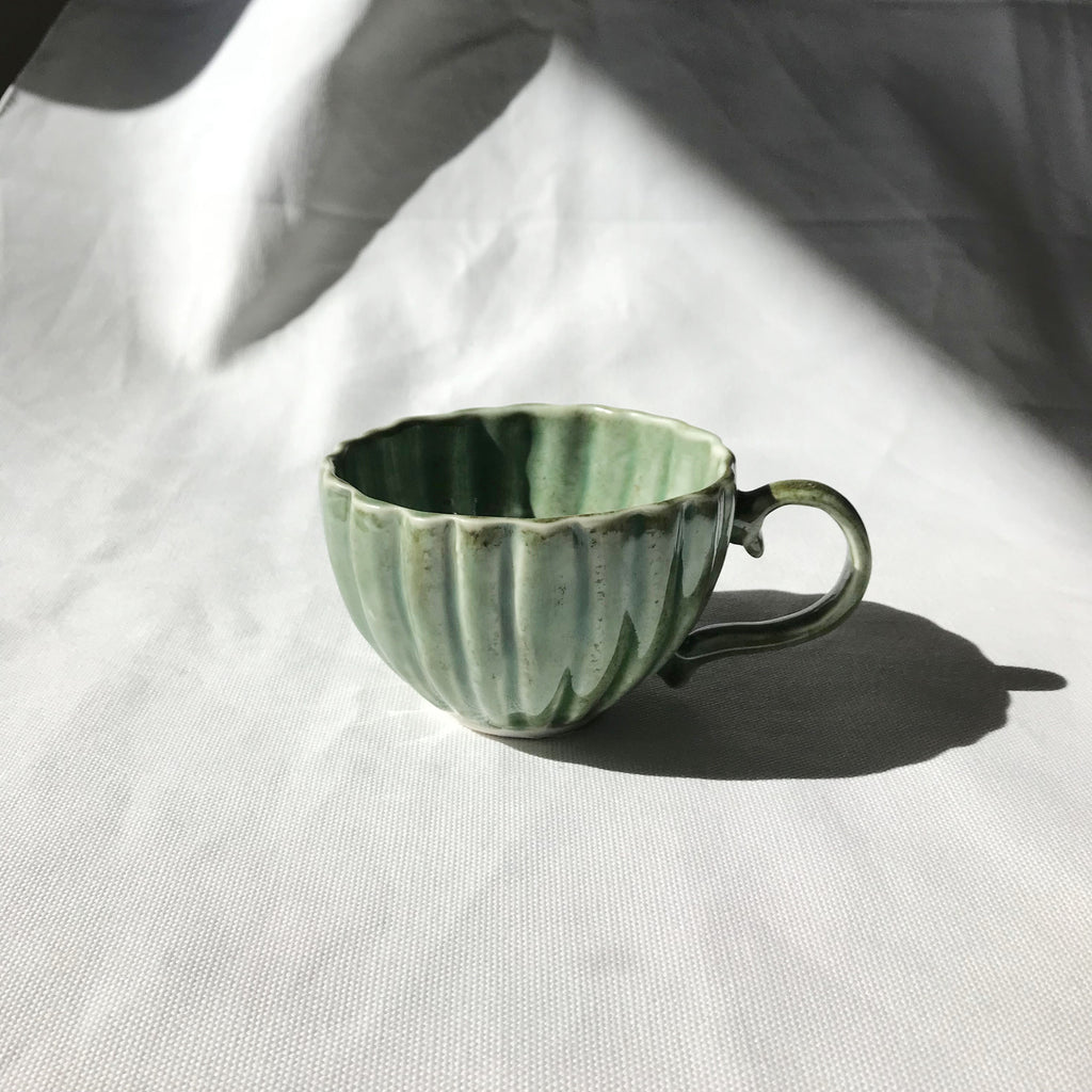 Sian Thomas Green Ceramic Tea Cup