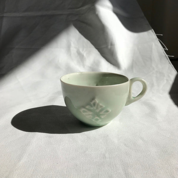 Sian Thomas Mint Rosette Ceramic Tea Cup