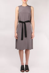 GoSilk Go Black Belt Dress Grey Matters