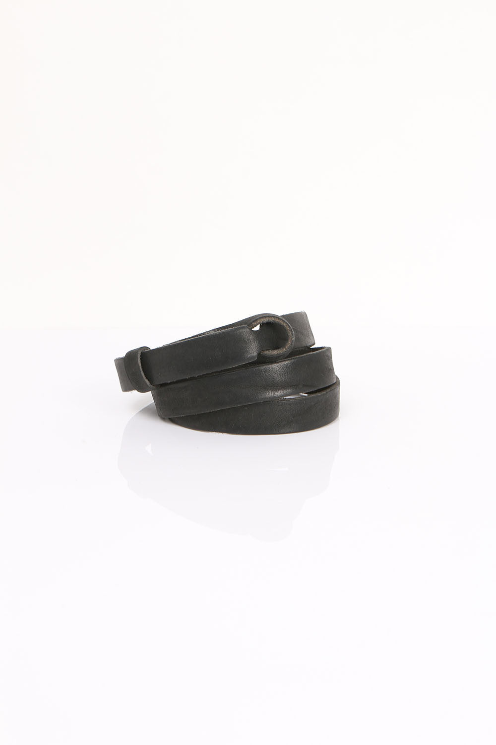 Pomandere Notched Belt Black