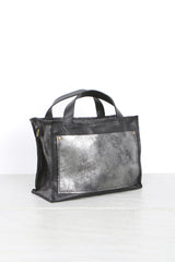 Stitch and Tickle Small Boxy Distressed Black