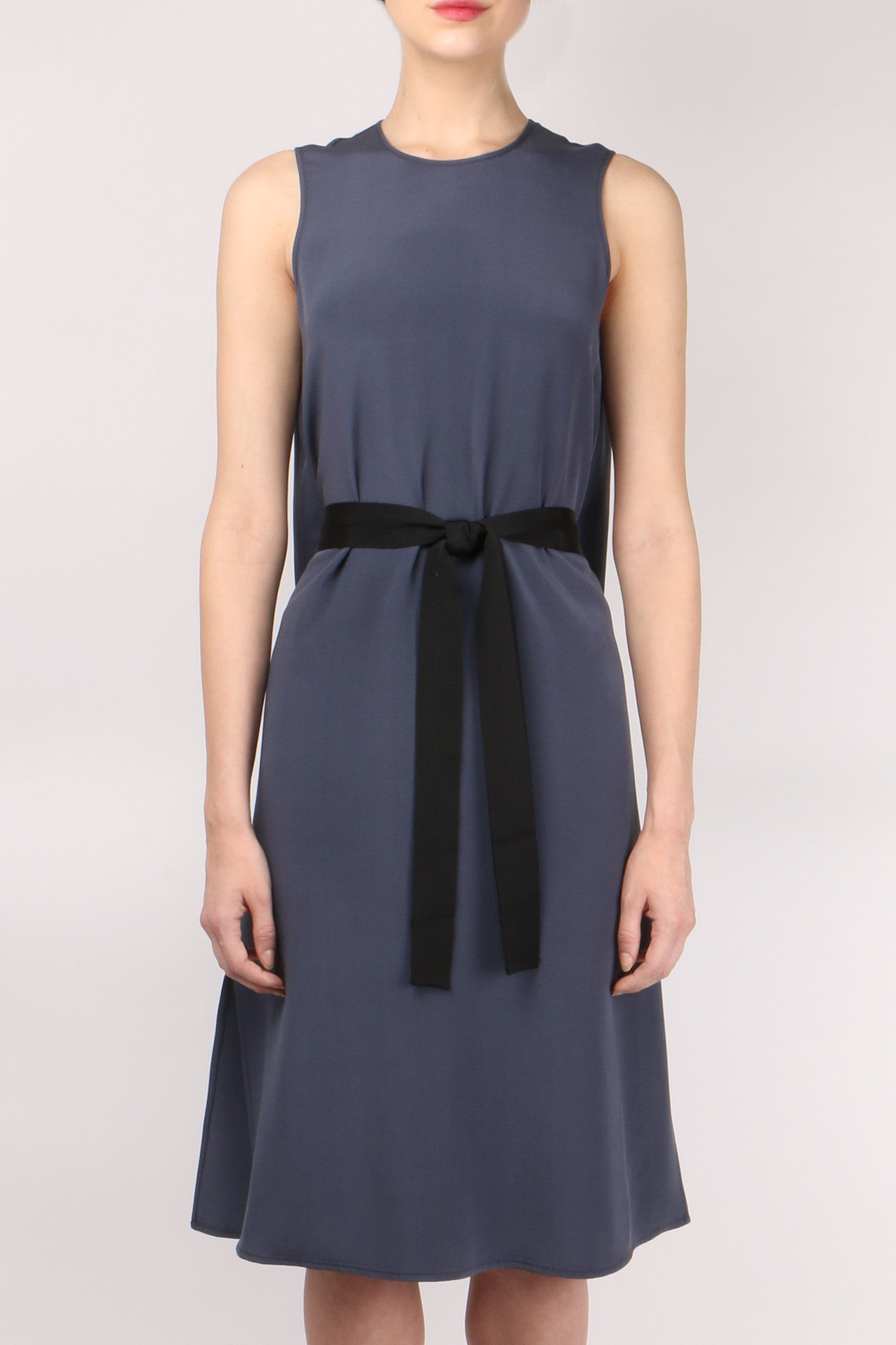 GoSilk Go Black Belt Dress Midnight