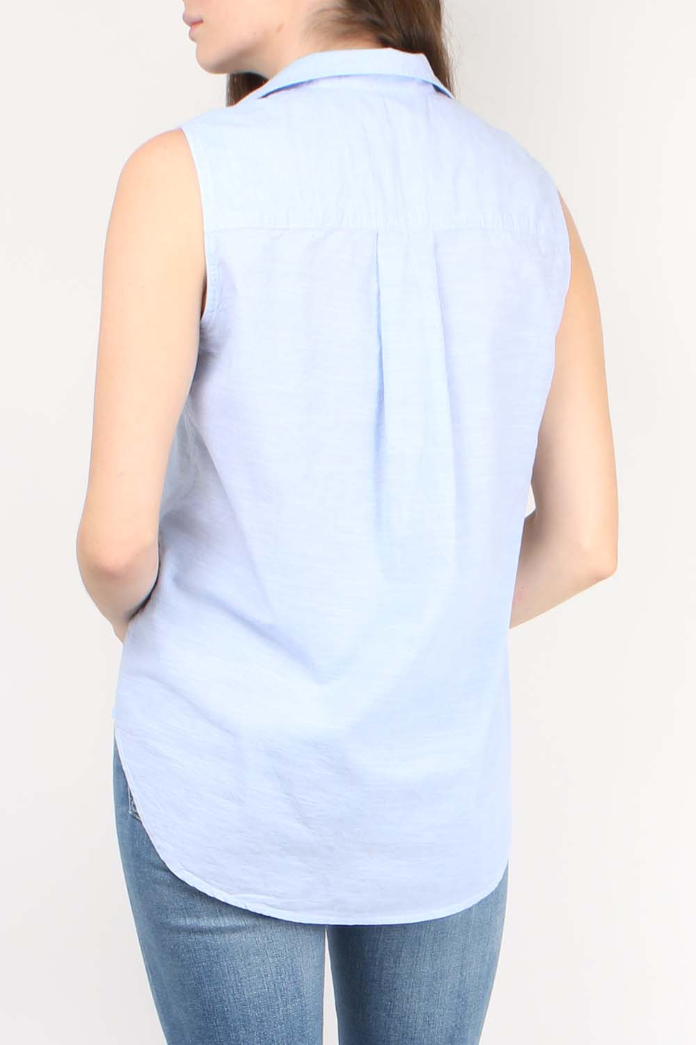 Fiona Sleeveless Button Down