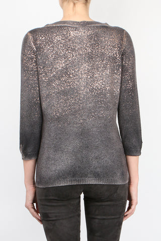 Metallic Three Quarter Knit