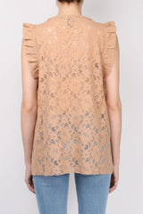(nude) Lace Tank Top Rosewood