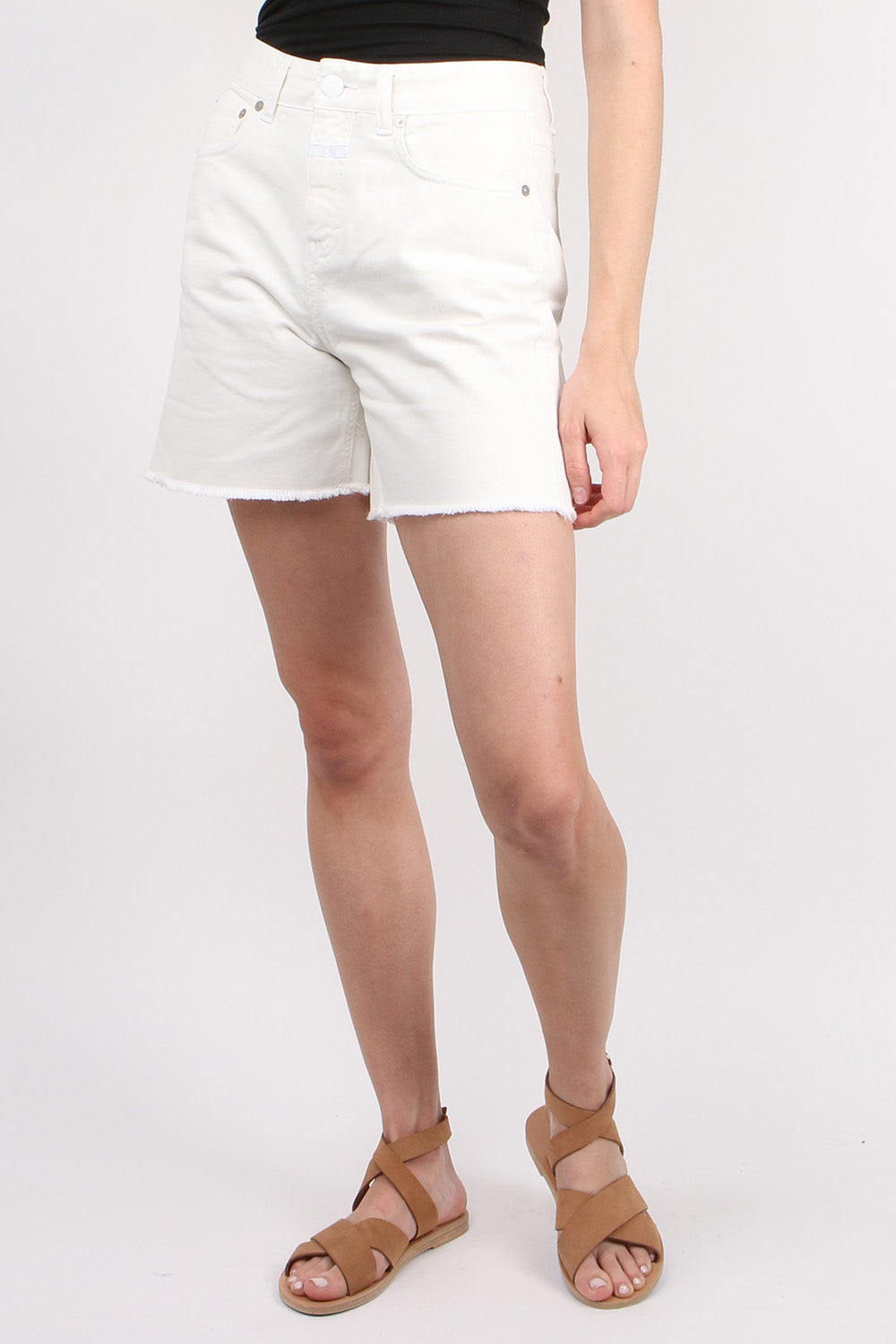 CLOSED Denim Lucy Denim Shorts in White