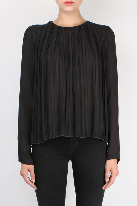 Pomandere Pleated Viscose Blouse