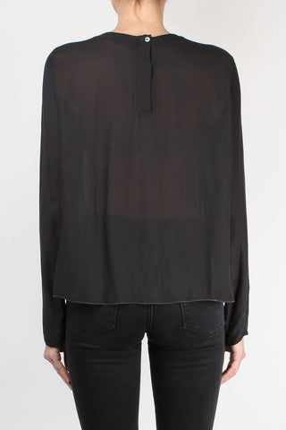 Pleated Viscose Blouse