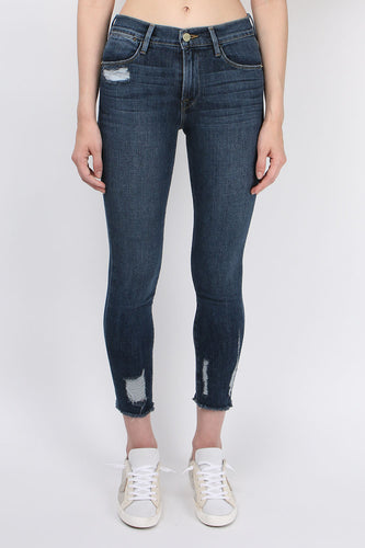 Frame Denim La Bermuda Crop Raw Edge