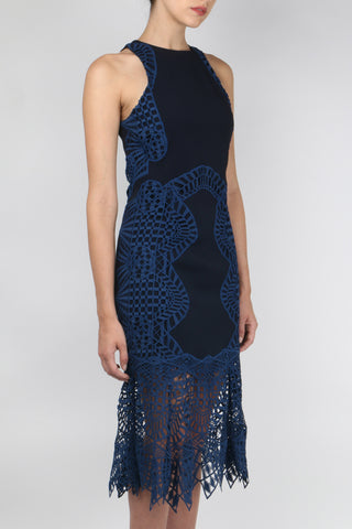 Jonathan Simkhai Contoured Lace Flare Dress