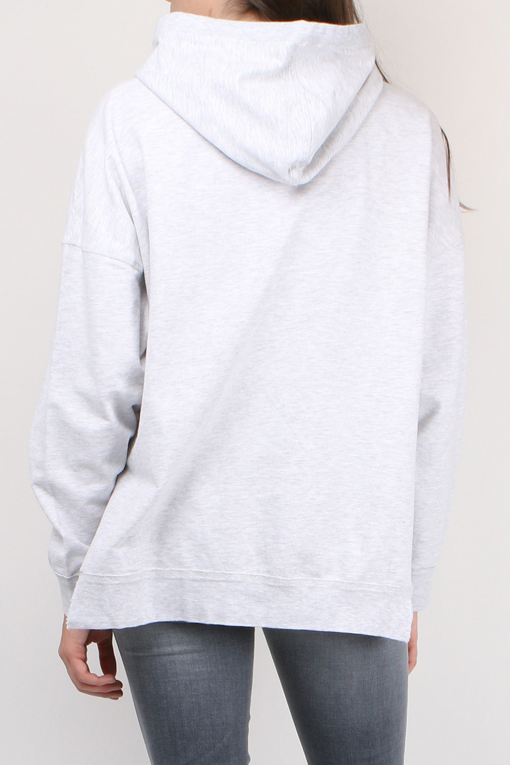 CLOSED Denim Logo Hoodie in Light Grey Melange