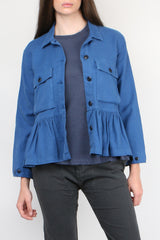 The Great The Flutter Army Jacket in French Blue