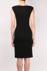 Peserico Sleeveless Deep V Neck Dress