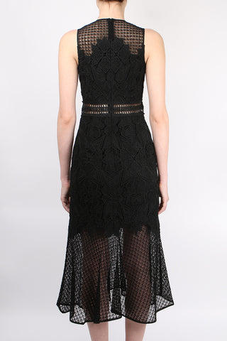 Multimedia Lace Trumpet Dress