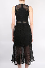 Jonathan Simkhai Multimedia Lace Trumpet Dress