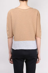 One Choi Two Tone Knit Top