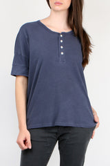 The Great The Vintage Henley in Mottled Blue