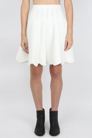 Cable Knit Flare Skirt