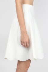 Jonathan Simkhai Cable Knit Flare Skirt