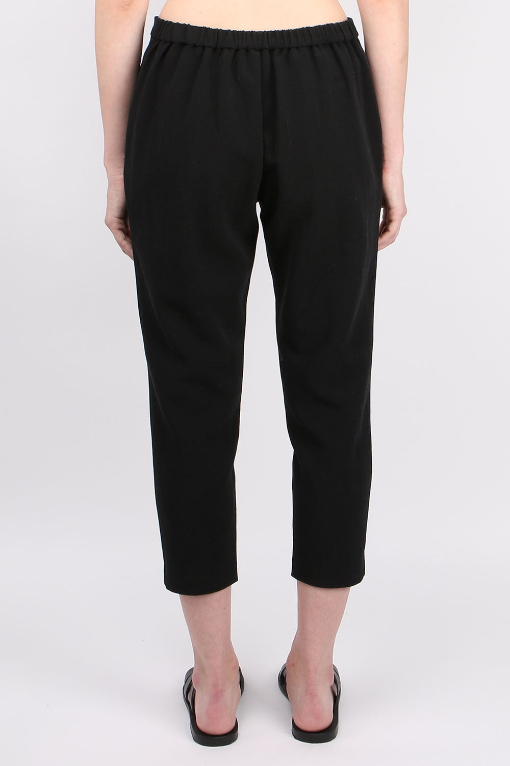 Evam Eva Double Cloth Easy Tuck Pant Black