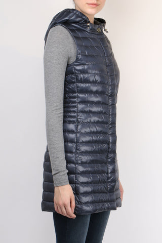 Long Fitted Down Vest