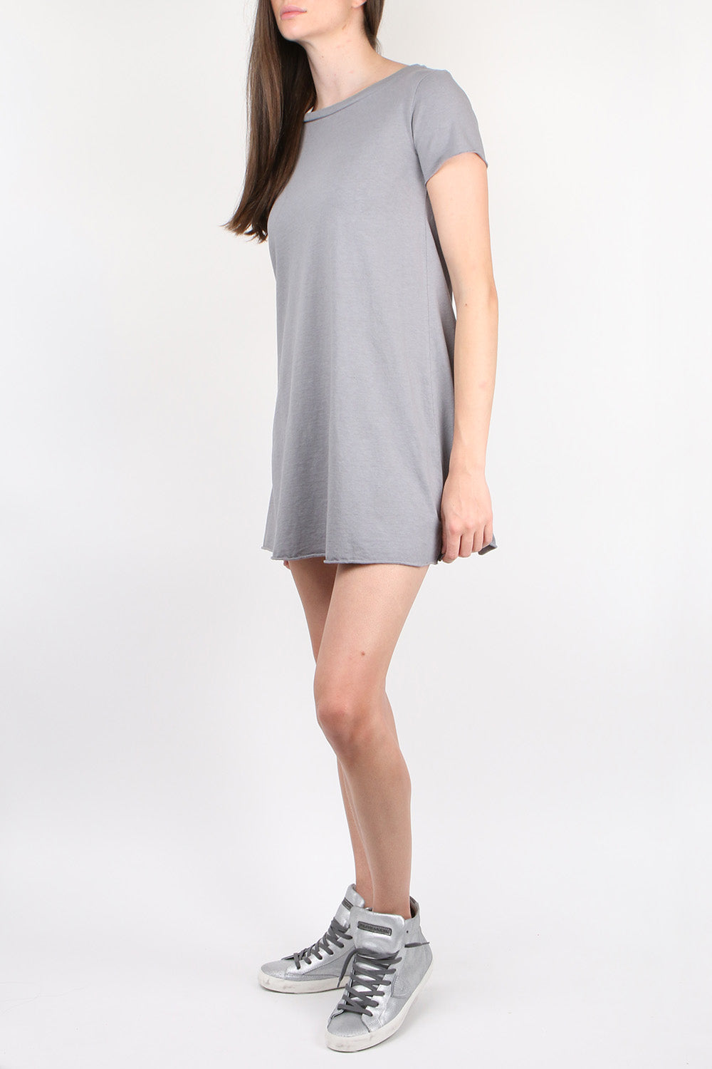 Tee Lab by Frank & Eileen Short Sleeve Tunic in Shadow