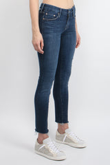 MOTHER Denim Looker Ankle Fray Girl Crush