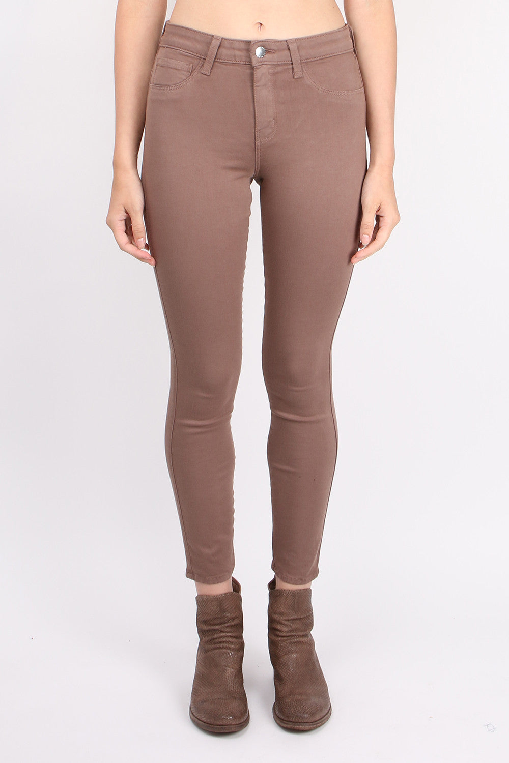 L'Agence Margot High Rise Skinny Pine Bark
