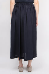 Forte Forte Habotai Silk Long Skirt in Blu
