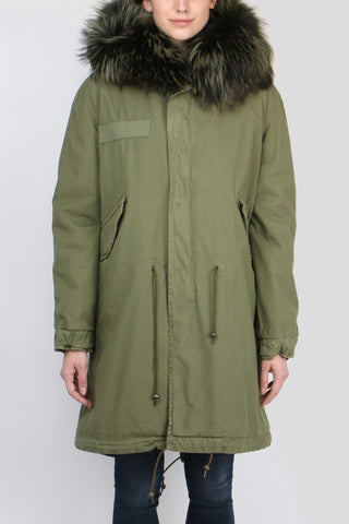 Mr & Mrs Italy Canvas Fur Trimmed Parka