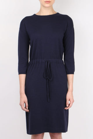 Allude Drawstring Knit Dress