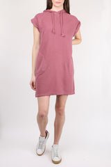 ATM Sleeveless Hooded Dress Nantucket Red