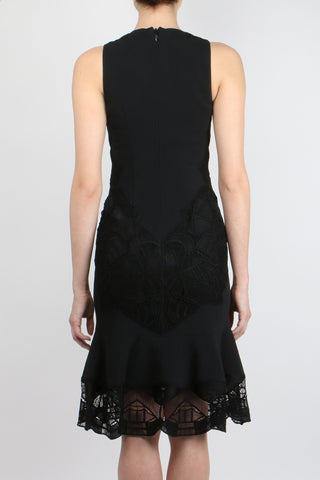 Lace Applique Crepe Dress