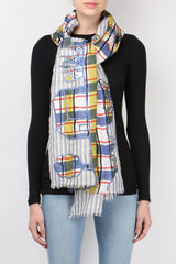 Mii Collection Mixage Scarf Blue