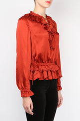 Ulla Johnson Maisie Blouse Crimson