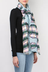Mii Collection Mixage Scarf Green