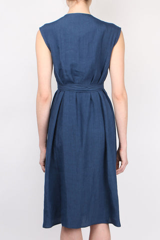 Linen Dress W/ Cross Tie