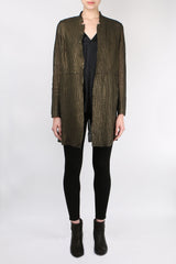Salvatore Santoro Mid Leather Over Coat