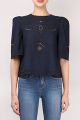 10 Crosby Derek Lam S/S Embroidered Top