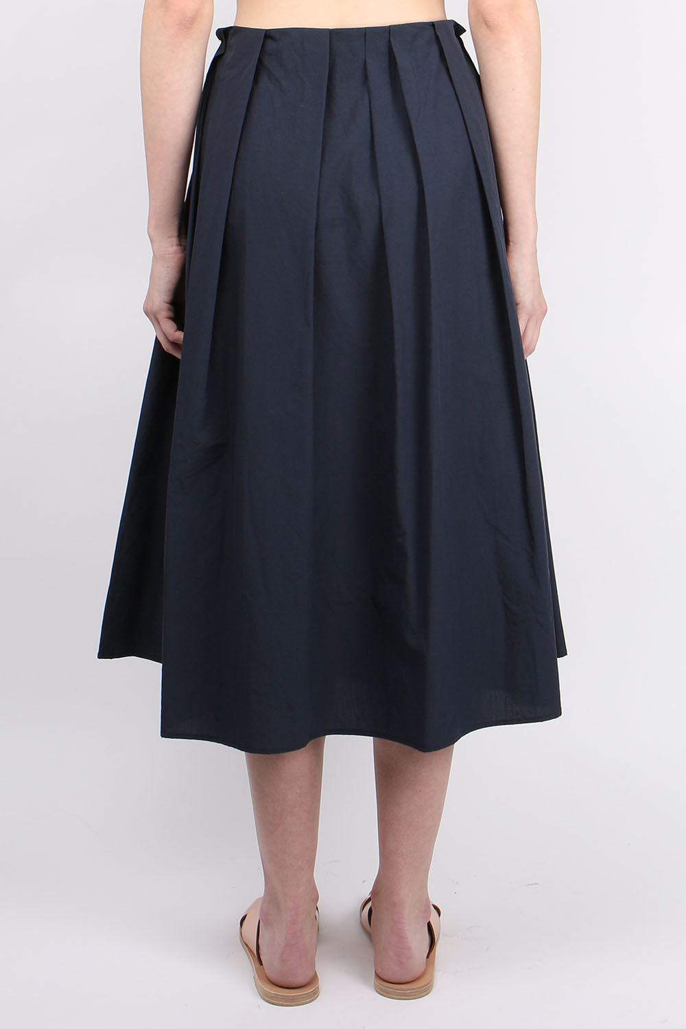 apunto b Poplin Gathered Waist Skirt