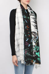 Mii Collection Mixage Scarf Black