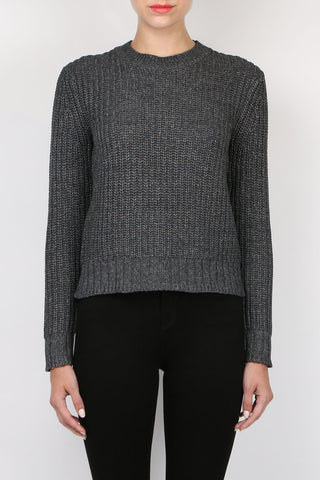 Jennie Kayne Rib Crewneck Sweater