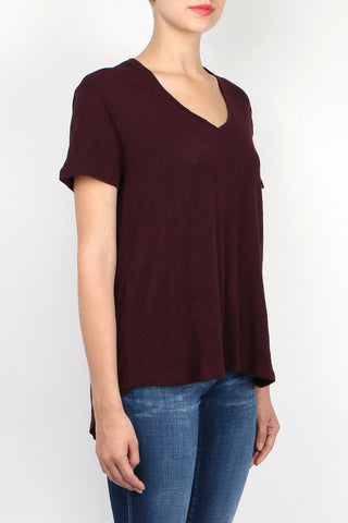 Knit Boyfriend V-Neck Tee
