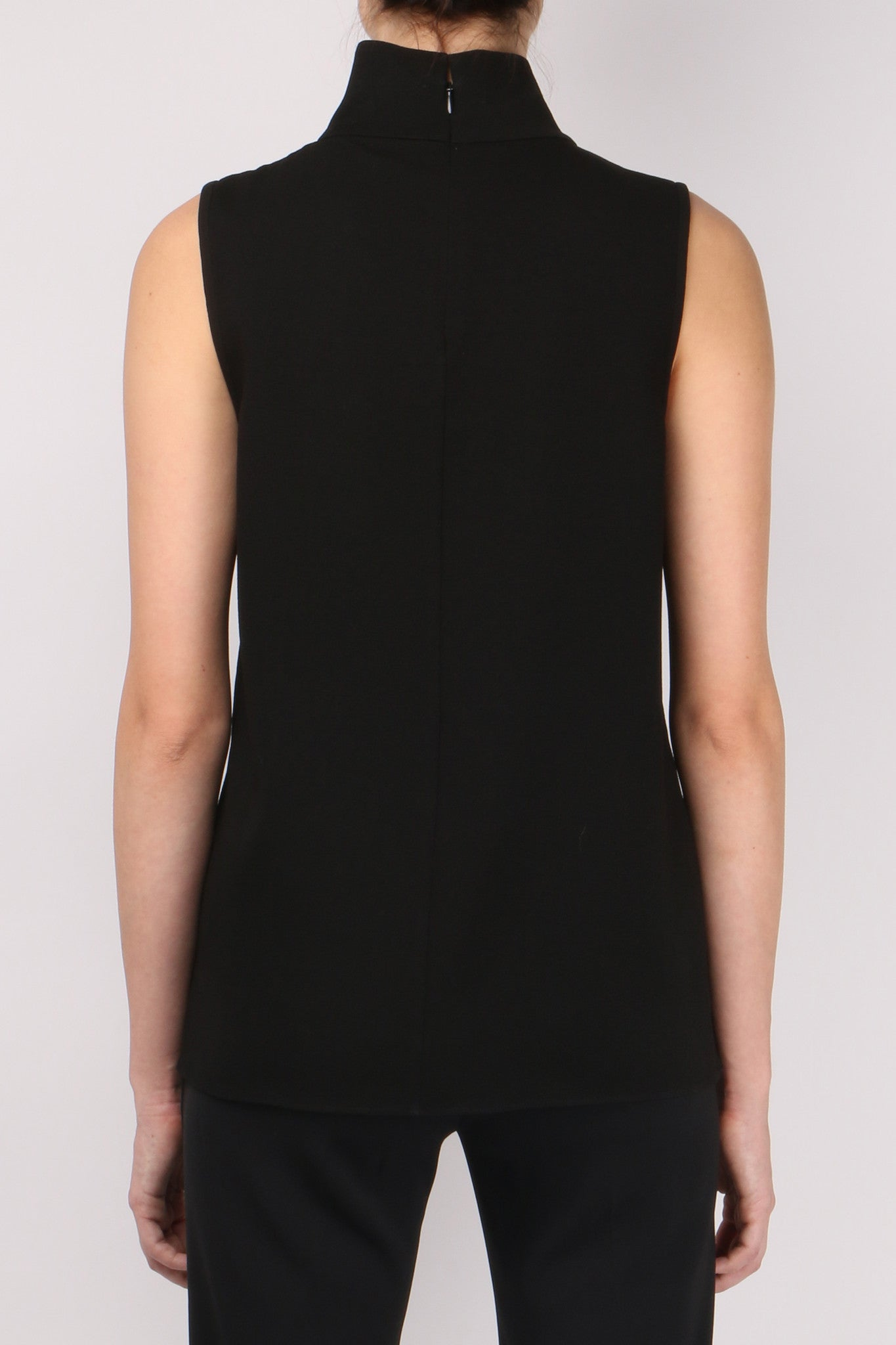 Tibi Savanna Crepe Mock Neck Top