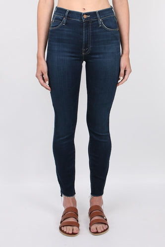 Mother Denim Stunner Zip Ankle Fray After Hours