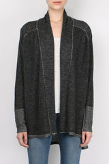 Paychi Guh Floaty Cardigan Black Ivory